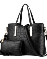 Crocodile composite bag shoulder bag 2pcs set for women