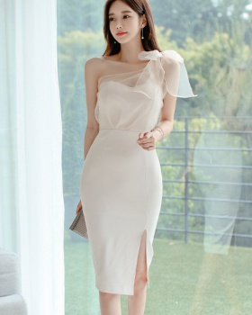 Splice temperament summer package hip Korean style dress