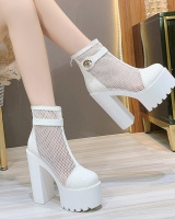 Mesh rome T-shirt thick nightclub shoes for women