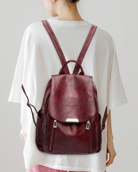 Casual travel schoolbag retro backpack for women