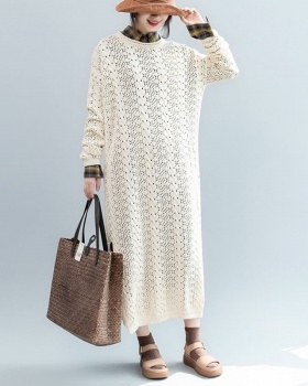 Autumn sweater dress hollow sweater for women