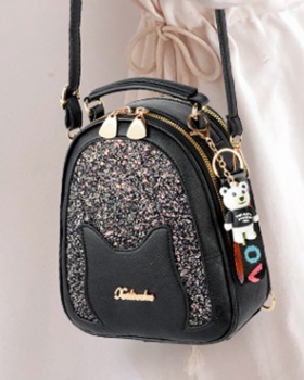 Student backpack sequins shoulder bag for women