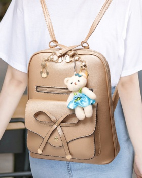 College style bow backpack student schoolbag for women
