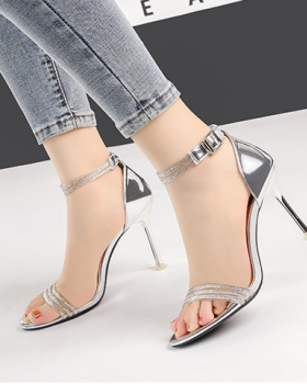 Sexy Korean style sandals fashion high-heeled shoes