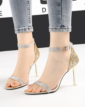 Sexy fine-root high-heeled shoes open toe sandals for women