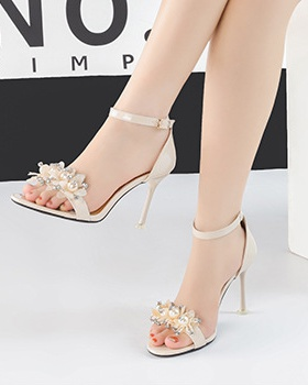 European style sandals fine-root high-heeled shoes for women