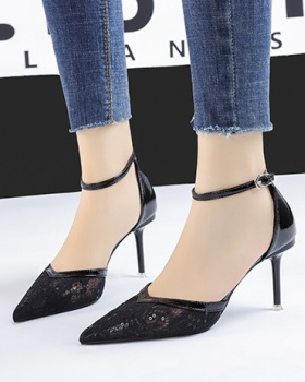 Korean style sandals lady high-heeled shoes for women