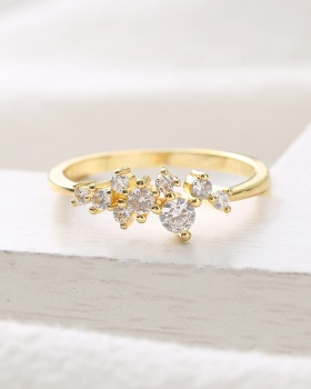 Gold accessories rhinestone ring