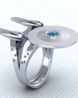 European style creative ring