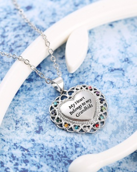 Fully-jewelled antique silver necklace for women