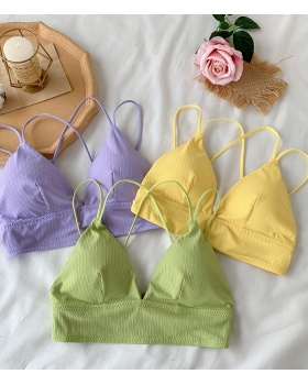 Beauty back thin sling Bra small strap geometry underwear