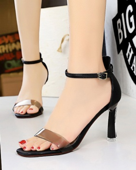 Transparent high-heeled shoes open toe sandals