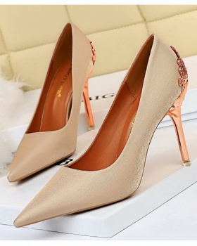 Slim pointed stilettos low sexy shoes