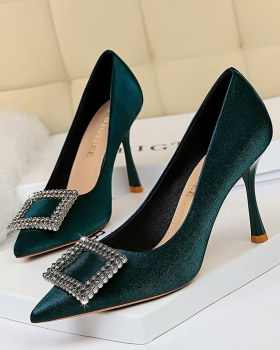 Satin banquet pointed high-heeled sexy shoes for women