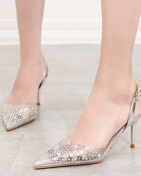 Hollow high-heeled shoes sandals for women