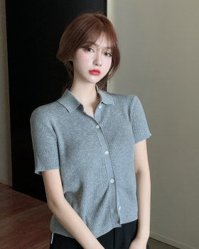 Knitted tender shirts summer tops for women