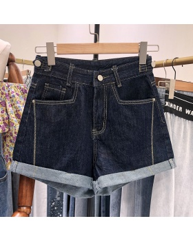 Korean style summer shorts loose Western style jeans