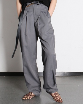 Slim feet business suit mopping fashion pants for women