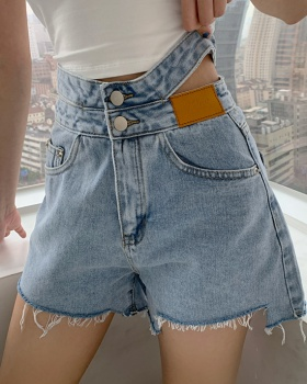Hollow retro shorts personality summer jeans