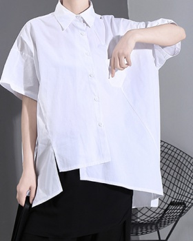 Summer large yard tops pure shirt for women