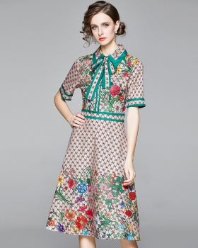 Summer temperament printing letters dress for women