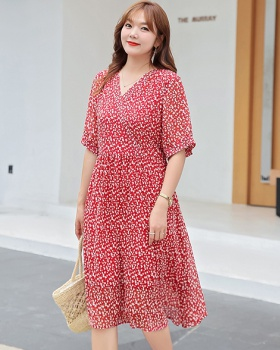 Loose summer fat floral dress for women