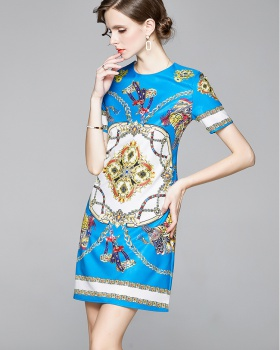 Short sleeve fashion ladies summer dress for women