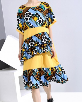 Casual Thailand printing loose summer dress for women