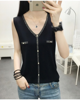 Bottoming sleeveless thin tops sling V-neck vest for women