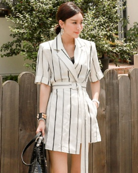 Pinched waist business suit dress for women