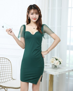 Show chest sling sexy low-cut dress for women