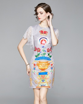 Sweet France style ladies Cover belly lady slim summer dress
