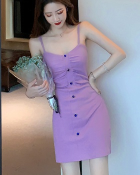 Package hip sling strapless short purple tight sexy dress