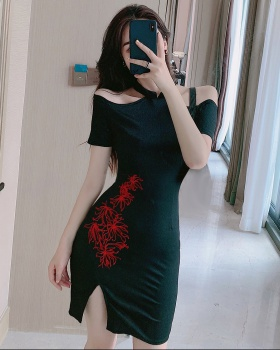 Summer embroidered sexy Chinese style retro dress