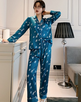 Long sleeve spring and summer pajamas 2pcs set for women