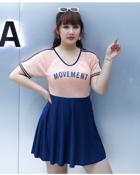 Korean style conjoined swimwear big chest slim skirt