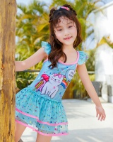 Swim vacation lovely skirt cartoon child swimwear for women