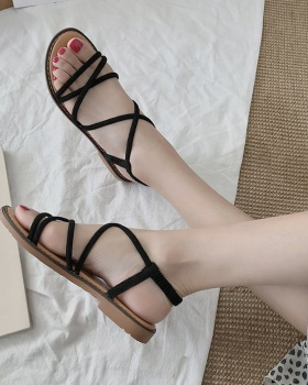 Flat fine band cingulate Casual sandals for women