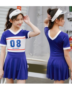 Swim conjoined sports Casual child swimwear