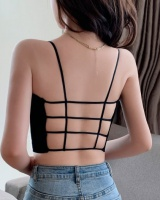Summer short grid small sling sexy hollow vest for women