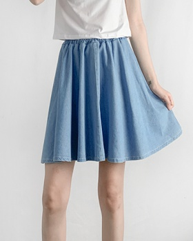 Light color large yard summer culottes wide leg thin shorts