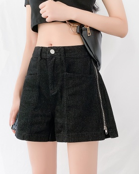 Slim summer short jeans zip loose shorts for women