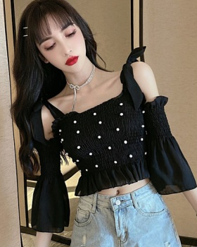 Little sexy Western style tops beading small shirt