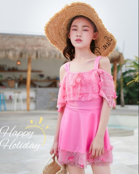 Sweet girl skirt Korean style conjoined swimwear