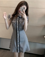 Fashion all-match slim dress plaid summer cardigan