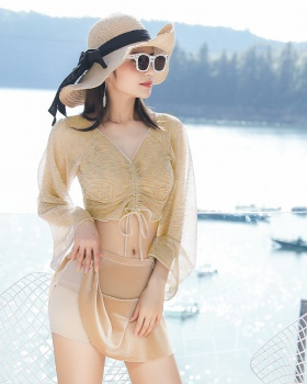 Separate long sleeve swimwear Korean style smock 3pcs set