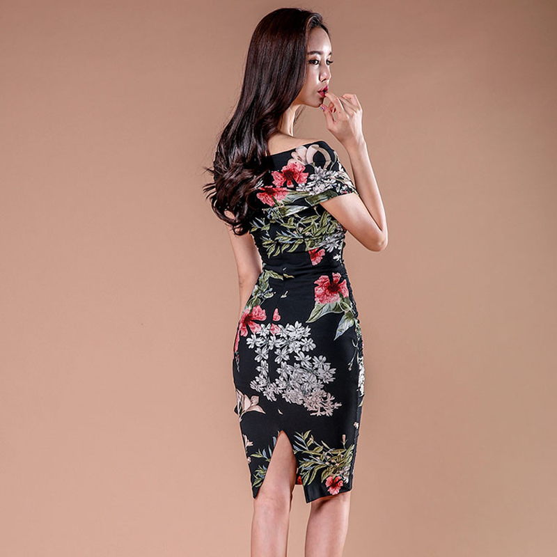 Korean style sexy summer strapless dress for women