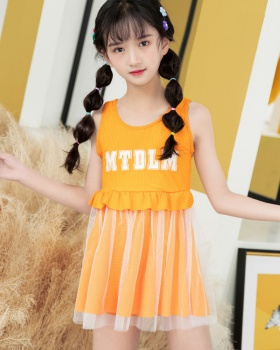 Korean style separates swimsuit child swimwear 2pcs set