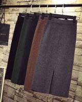 All-match high waist long skirt long knitted one step skirt