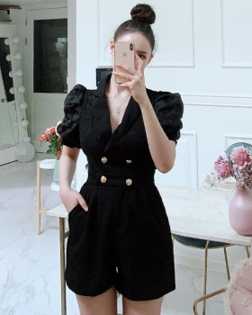 Show high wide leg jumpsuit slim conjoined shorts for women